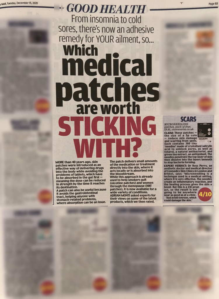mail medical patches